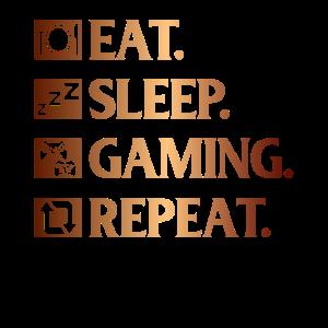 Essen. Schlafen. Gaming. Wiederholen