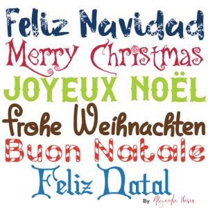 Frohe Weihnachten Sprachen. Frohe Weihnachten Sprachen