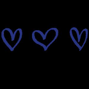 Herzen Geschenk Idee blau