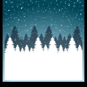 Schneefall Tannen Winter