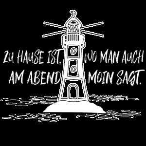 Wo man Moin sagt - witziges Shirt norddeutsch
