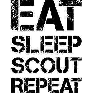EAT SLEEP SCOUT REPEAT Kreide - Farbe frei wählbar