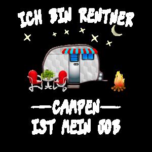 Campen Camping Camper Rentner Design Geschenk Idee