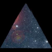 space triangle dreieck hipster