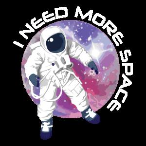 Astronaut im Weltall   Raumfahrer Universum Planet