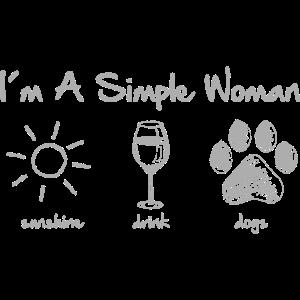 simple woman wine grey