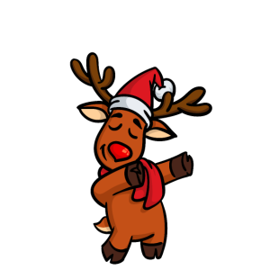 Dabbing Dab Süßes Rentier Elch Hirsch Weihnachten