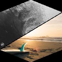 Surf Wave Beach
