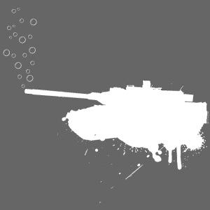 soap bubbles splash tank - Weiss