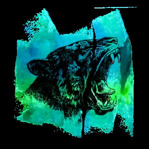 Luchs Jaguar Wild cat T Shirt Geschenk