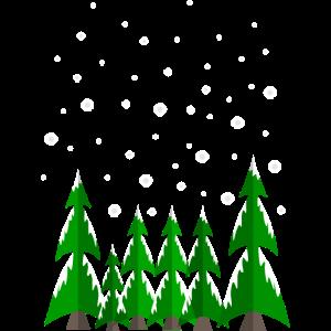 Schneeflocken Winter Wald