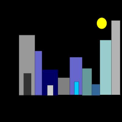 Stadt -  - rechteck,quadrat,kreis,blautöne,Stadtteil,Stadtstaat,Stadtbild,Stadt,Mond