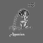 poster signe zodiaque verseau astrologie aquarius