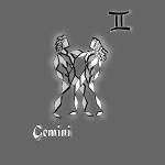 poster signe zodiaque gemeaux astrologie gemini
