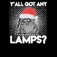 Moth Meme with christmas hat Lamp T-Shirt