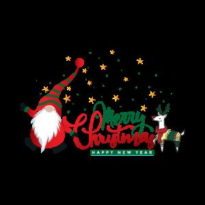 Weihnachtsmann Zwerg Rentier Top Weihnachten
