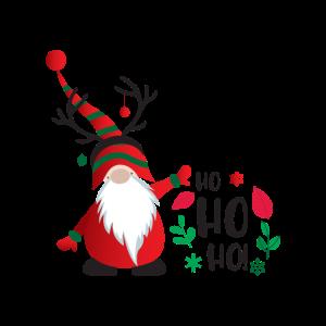 Weihnachtsmann Zwerg Ho Ho Ho Top Xmas