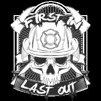 Feuerwehr First In Last Out TShirt