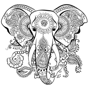Elefant - Spiritueller Elefant - Böhmisch - Mandalas