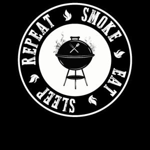 Eat Sleep Smoke Repeat BBQ Grillfans Geschenk