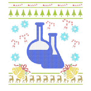 Lustiges Wissenschafts-Weihnachtshässliches Strickjacke-Entwurfs-Shirt