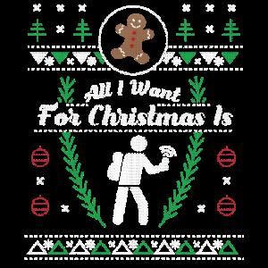 Geocaching Christmas hässliches Hemd