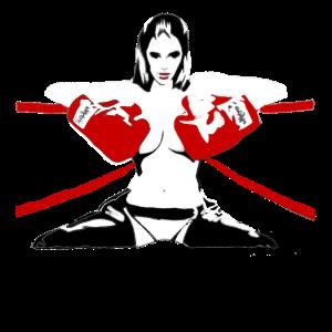 Sexy Frau im Boxring, Boxsport Geschenk Fighting