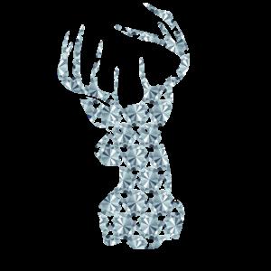 Hirsch Reh Rentier Geweih Diamanten Geschenk Idee