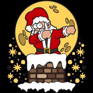 Dab Dabbing Weihnachtsmann Rauchfang Weihnachten
