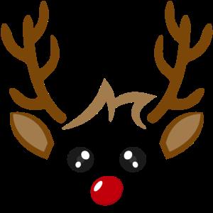 Süßes Rentier Gesicht Junge Weihnachten Xmas