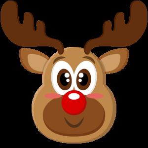 Süßes Baby Rentier Gesicht Weihnachten Xmas