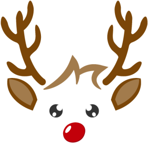 Süßes Rentier Junge Gesicht Weihnachten Xmas