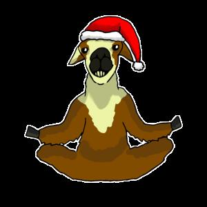Weihnachten Lama Meditation