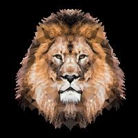 Löwe Löwenkopf Polygon