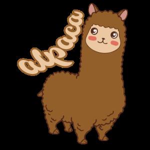 Alpaka Lama braune Wolle ,Geschenkidee