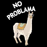 No Problama Lama | Alpaka Tier Lustig Geschenkidee