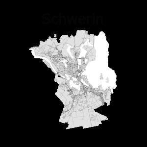stilisierte Straßenkarte Schwerin