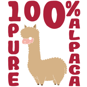 Alpaka Liebhaber zu 100%