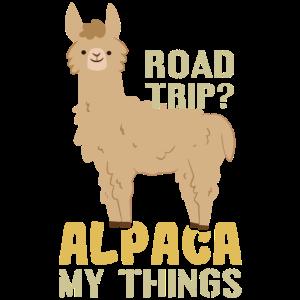 Das Alpaka macht Urlaub