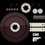 Tape parts: C90