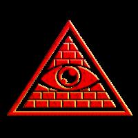 Allsehendes Auge im Dreieck - Pyramide