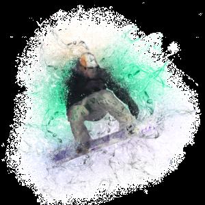 cooler Snowboarder Illustration Winter Sport Berge