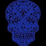 Calavera mexicana, patrón floral - Dias de Muertos