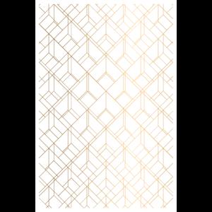 Gold Geometrie Auf Weiss Print Design