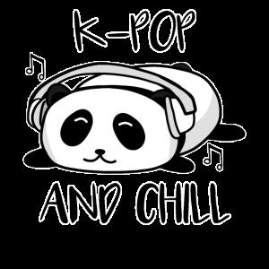 Panda Musik Pandabär Kopfhörer K-Pop and Chill