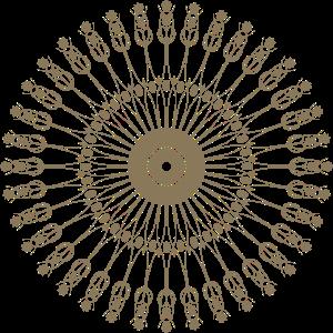 Ein rundes Symbol.
