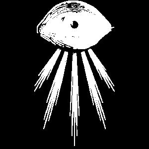 Das sehende Auge -- Var. III weiß