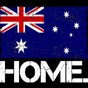 Home Australien   Flagge   Used look