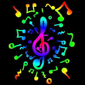 Notenschlüssel Singen Instrument spielen Geschenk