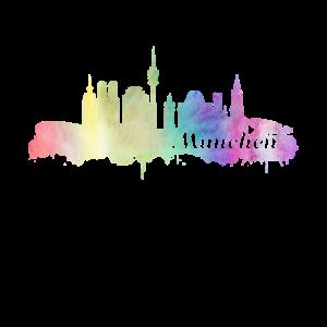 München Skyline Watercolor Shirt